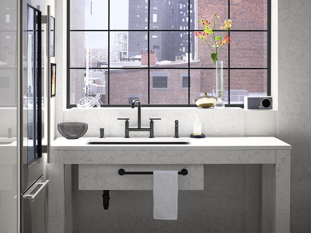 Silestone Ethernal Pearl Jasmine Bahroom Install