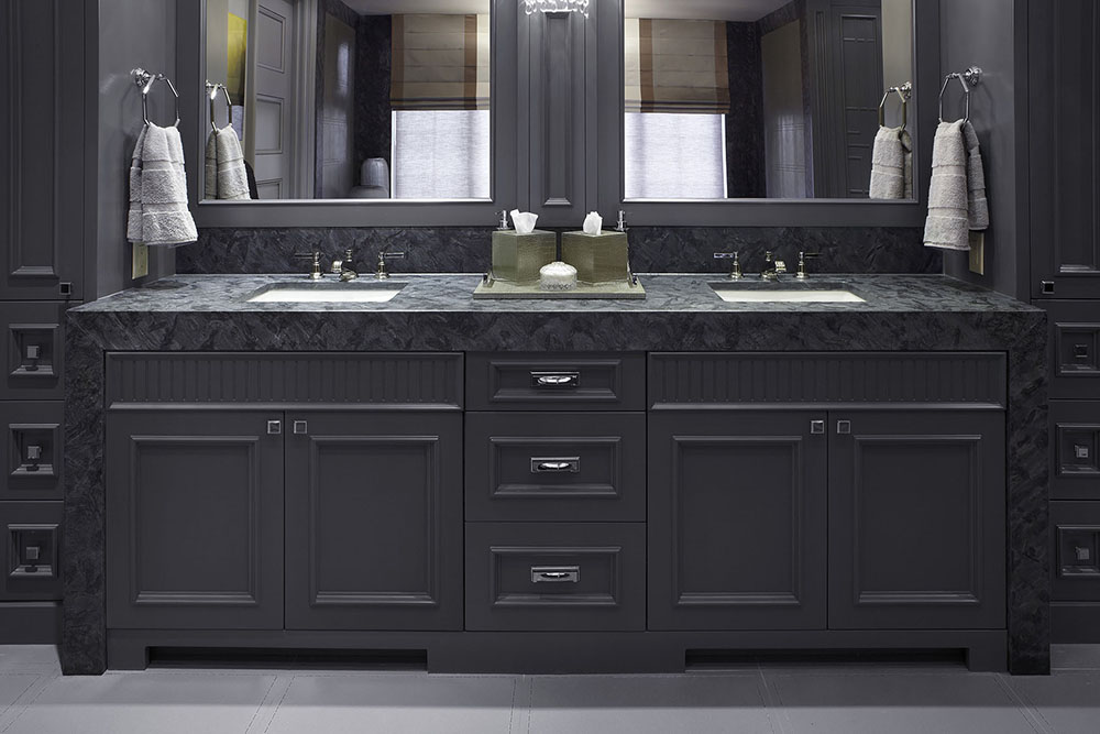 CrownMarble Granite Bella Notte Leather Front